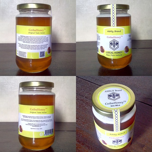 CeibaHoney ASHLIY Brand 360ml JAR (toples) Kaca