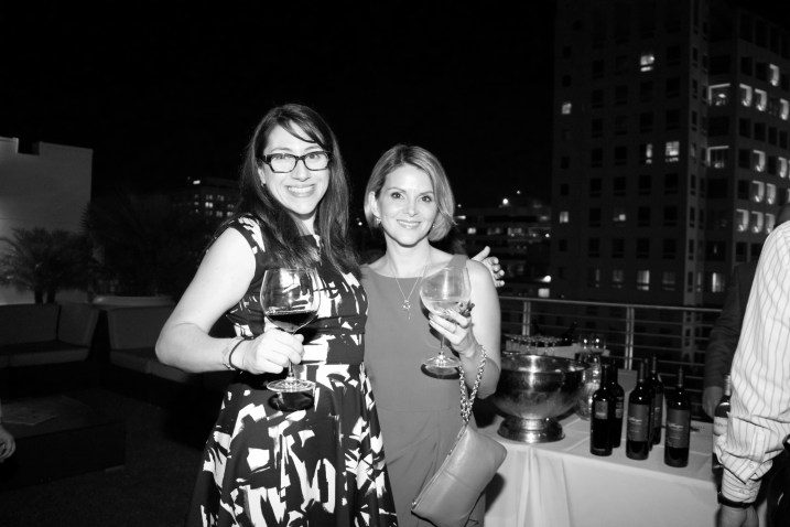 Megan Battista (Wagstaff Worldwide) and Me - Mezzacorona & Stemmari Wines' Holiday 2014 Wine Tasting at Rooftops on Ponce