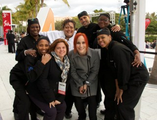 Chef Adrianne with MCI Students @ Taste of Miami 2015