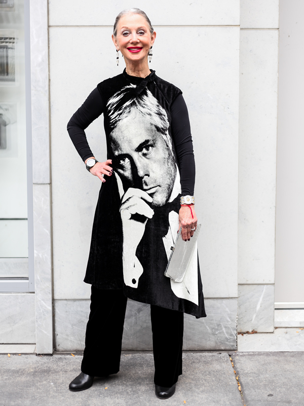 Honey Good discusses black and white outfits for women over 50