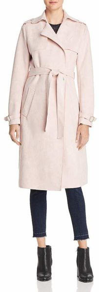 Faux-Suede-Pink-Trench-Coat
