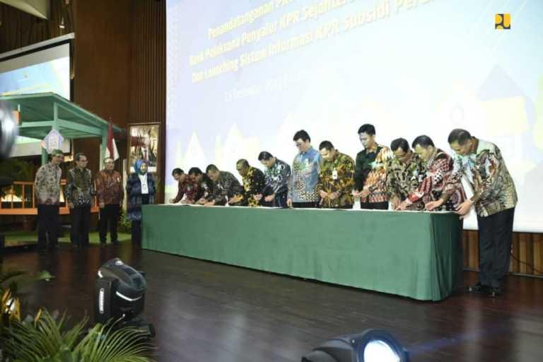 KemenPUPR dan PPDPP menandatangani PKO dengan 37 bank