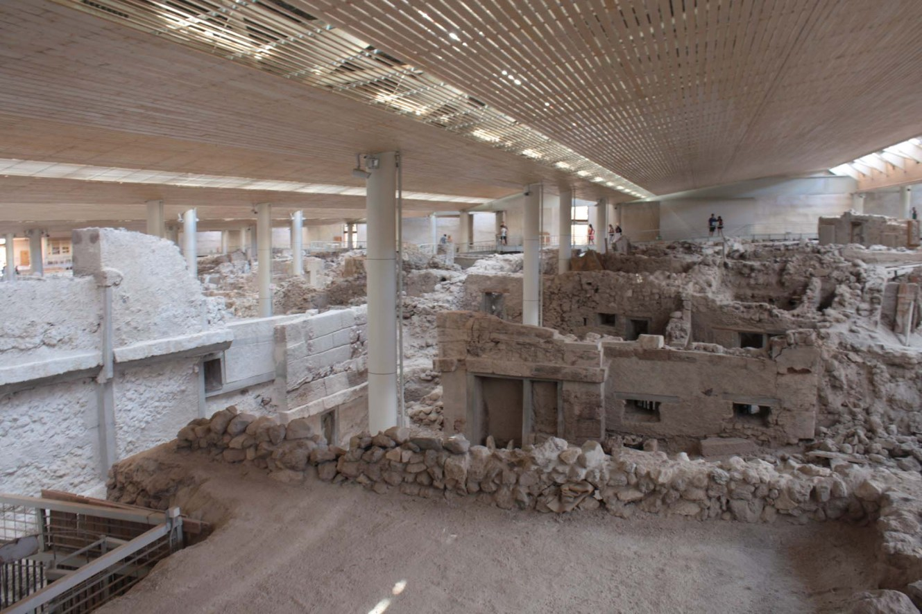 Ruines d'Akrotiri Santorin