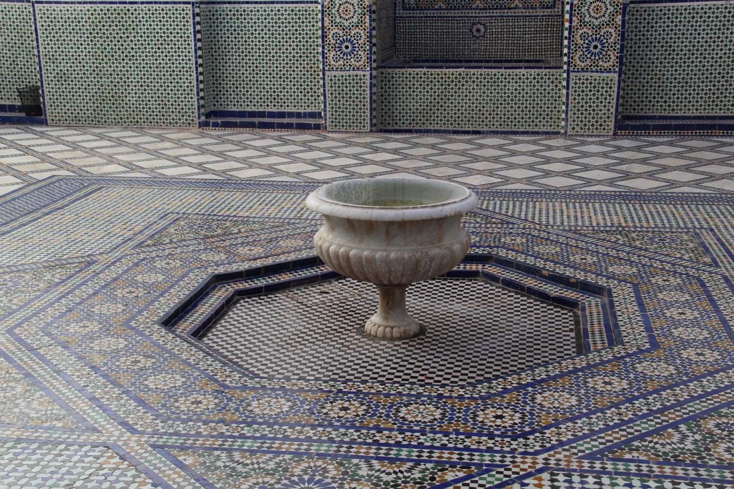 Courtyard fountain in Dar Si Said, Marrakech