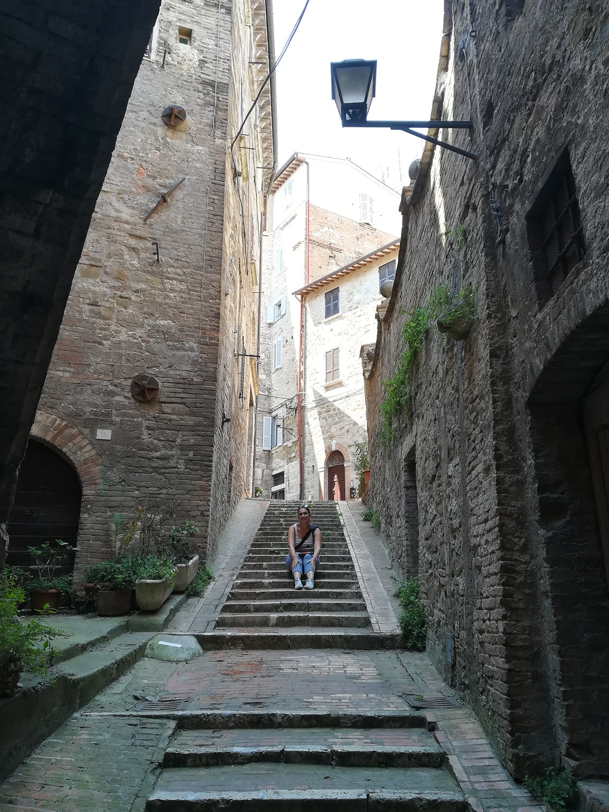 Marianna in a staircase, Perugia