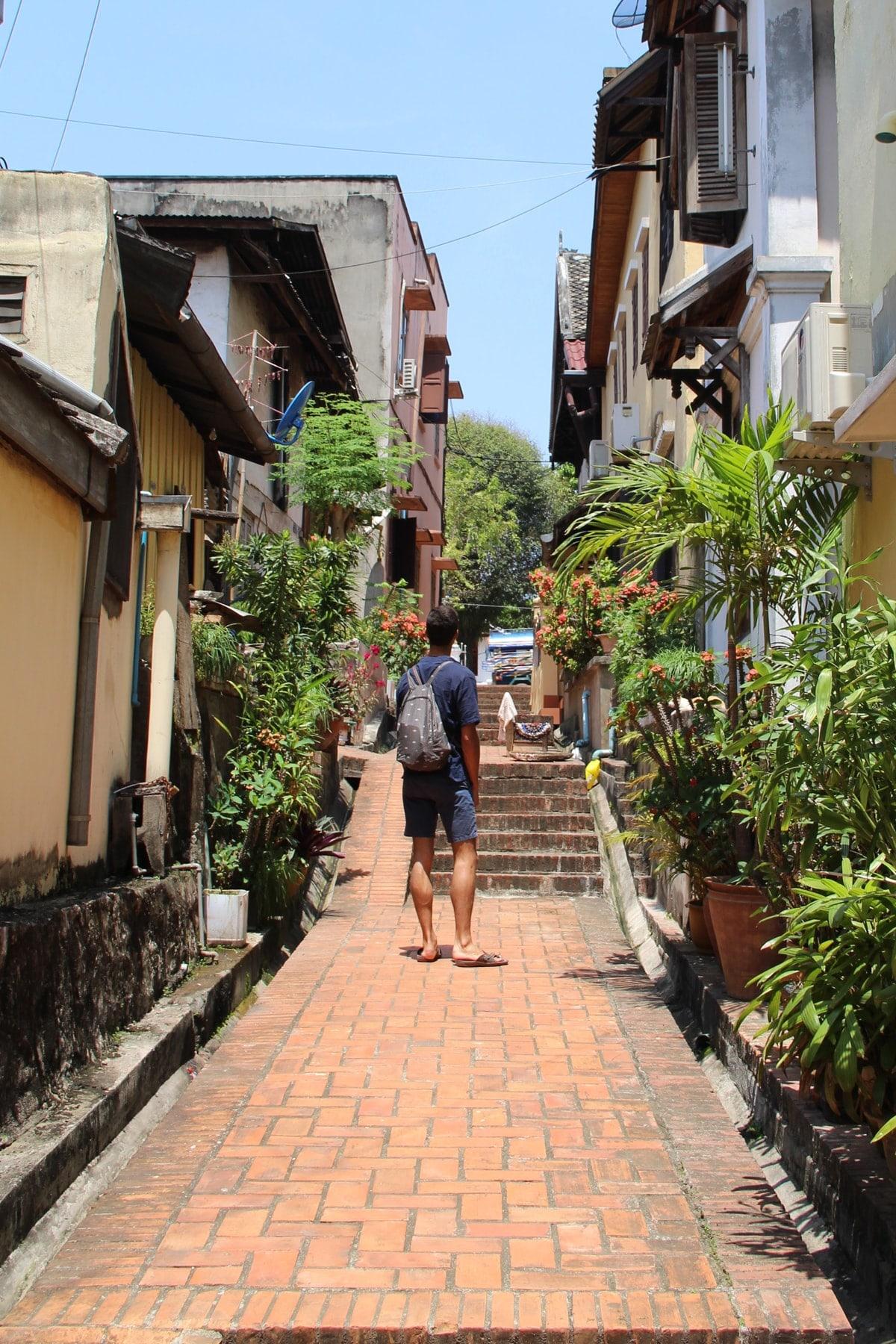 Street of Luang Prabang