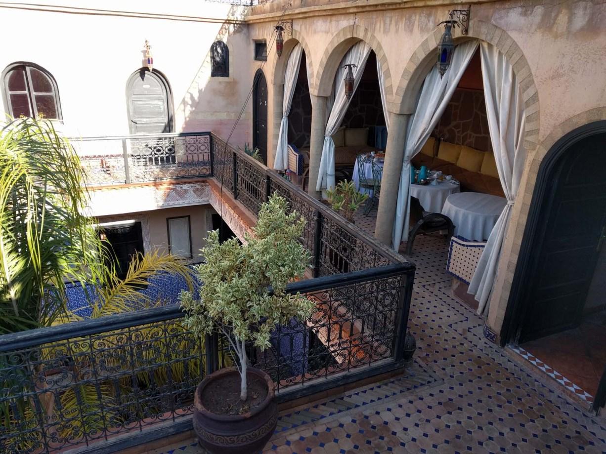 Breakfast room in our Riad in Marrakech