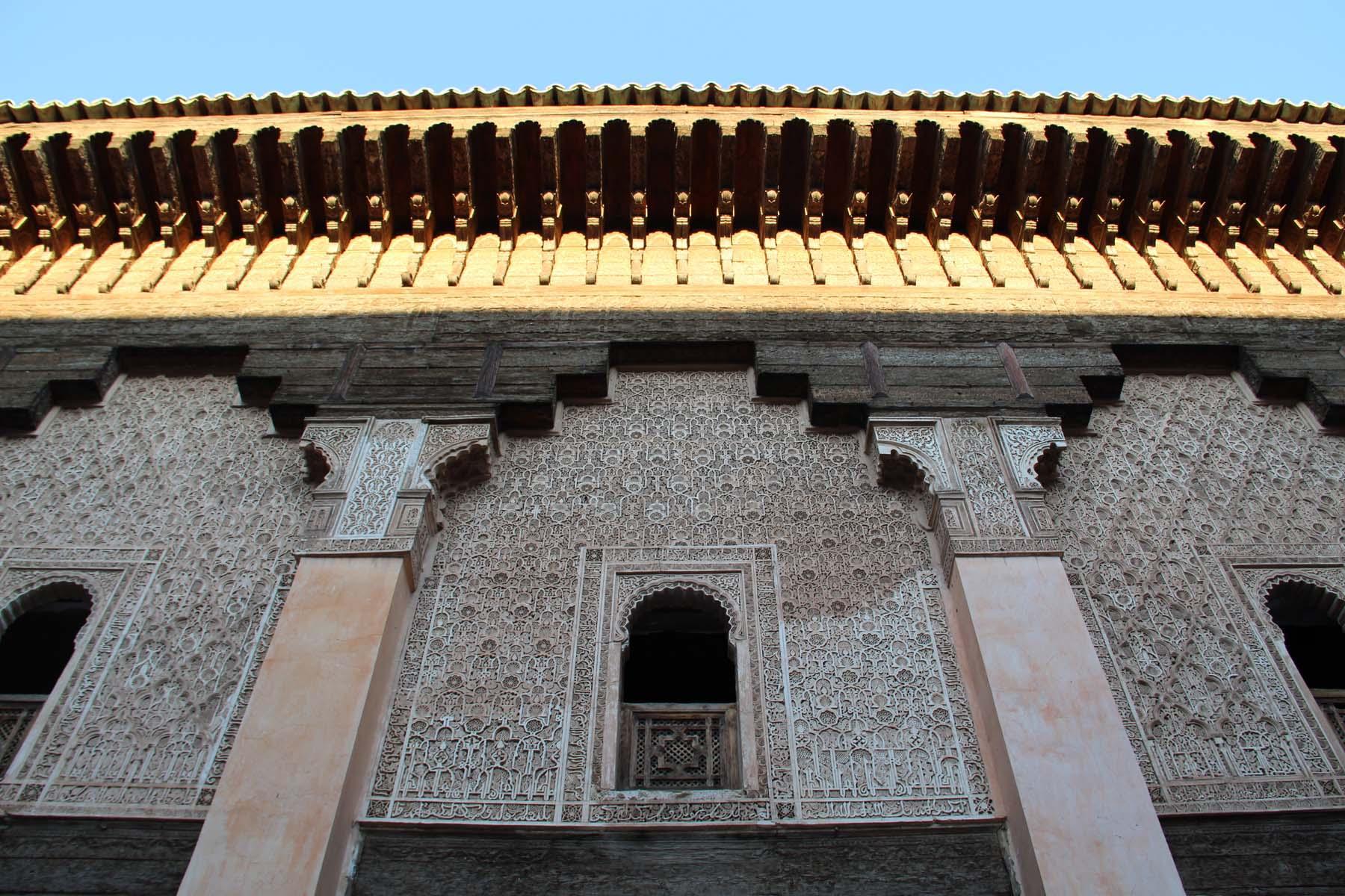 Facade of the Ben Youssef Madrasa in Marrakech