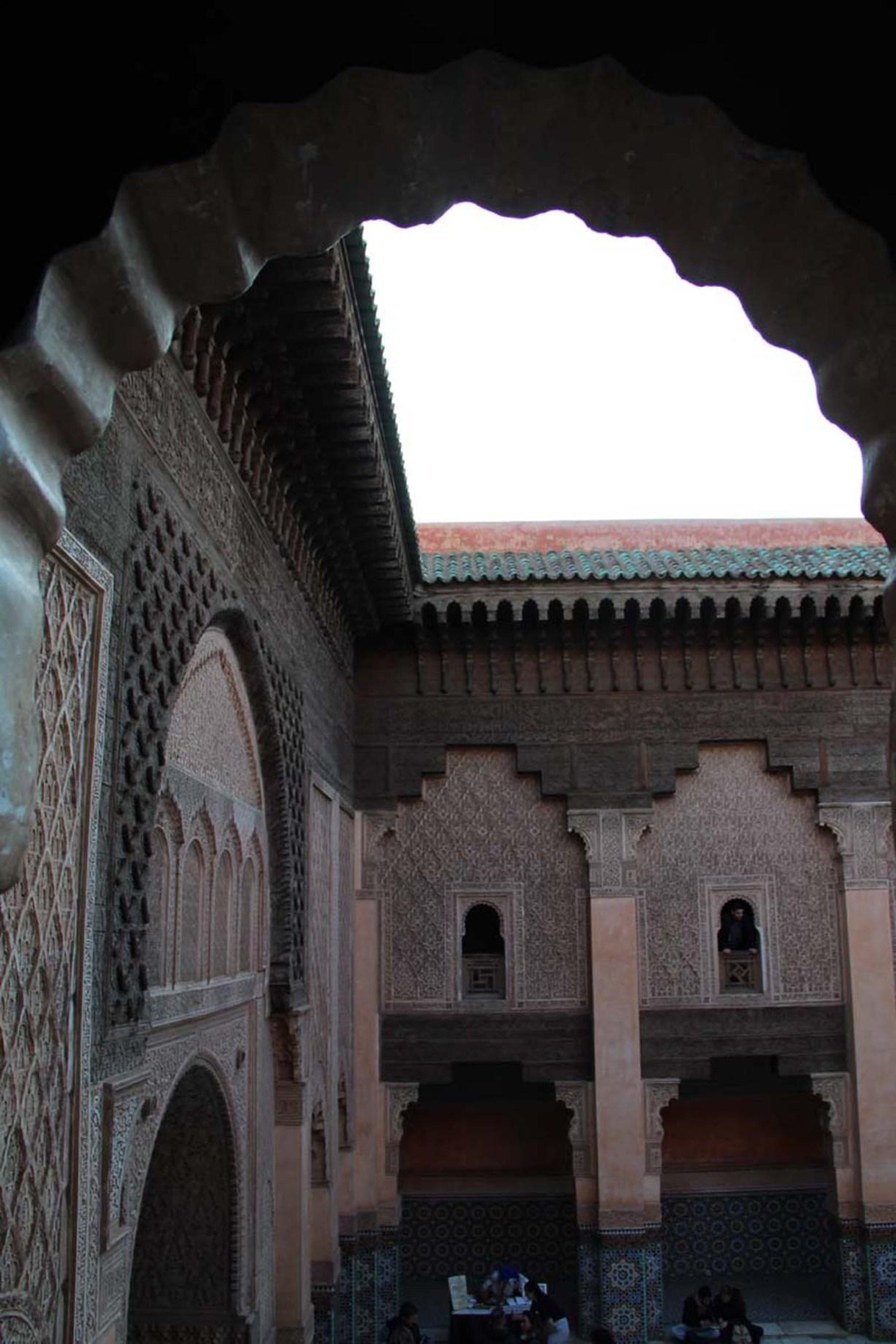 Courtyard of the Ben Youssef Madrasa in Marrakech