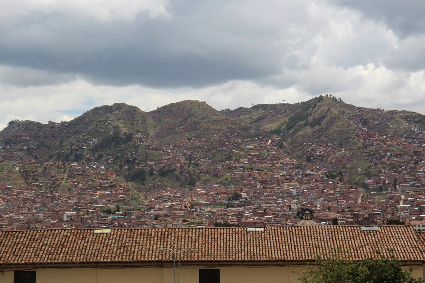 Vista sulle colline di Cuzco da San Blas