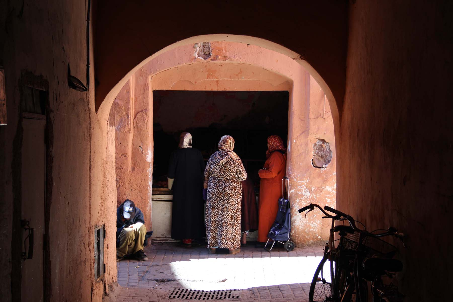 Women in Marrakech souk
