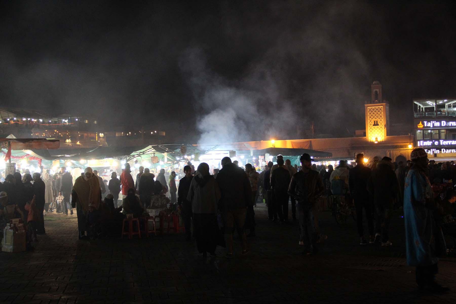 Marrakech's Jemaa el Fnaa square at night