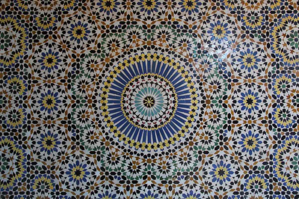 Decorazione della camera nuziale nella kasbah di Telouet