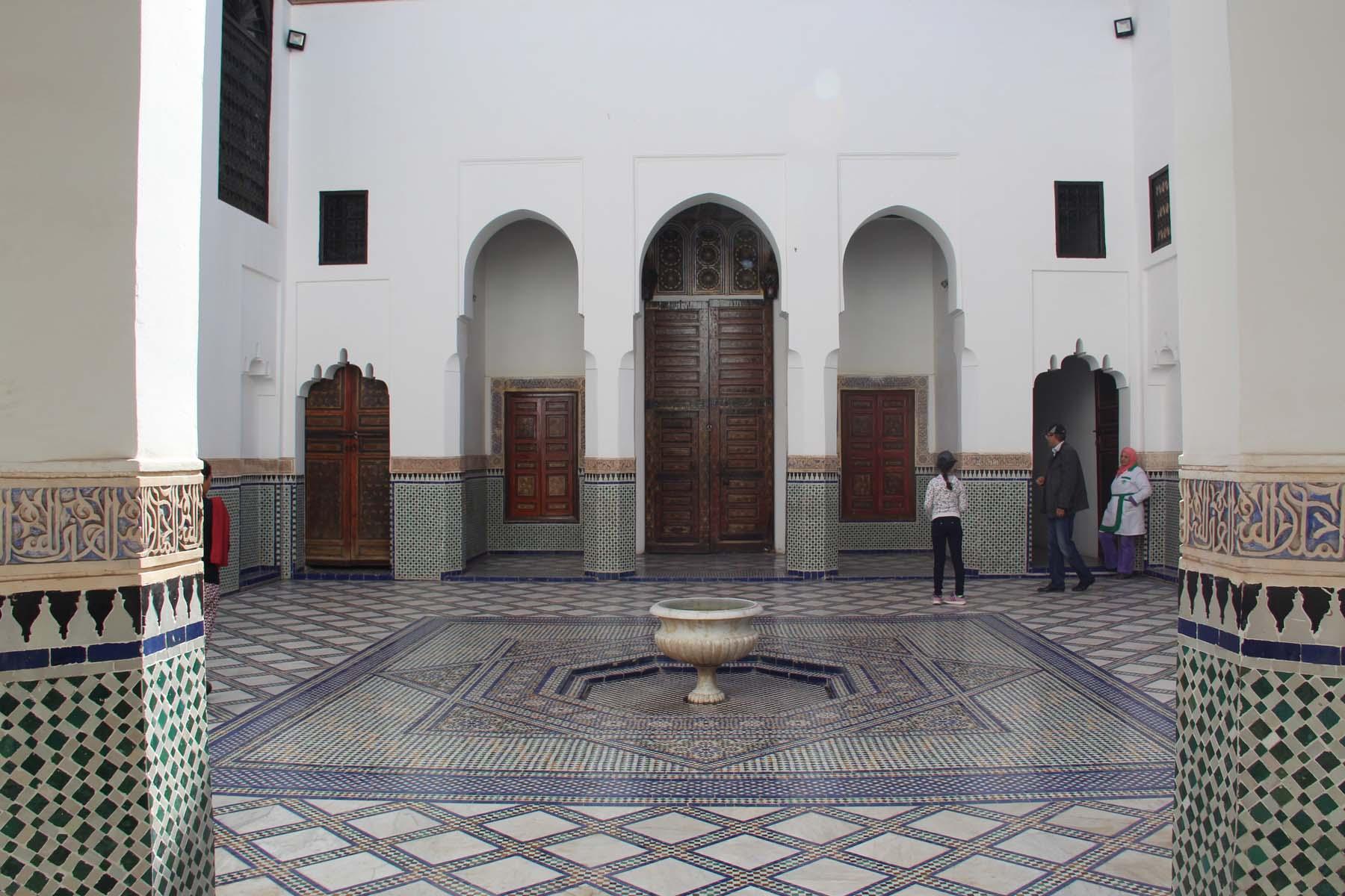 Courtyard in Marrakech Dar Si Said