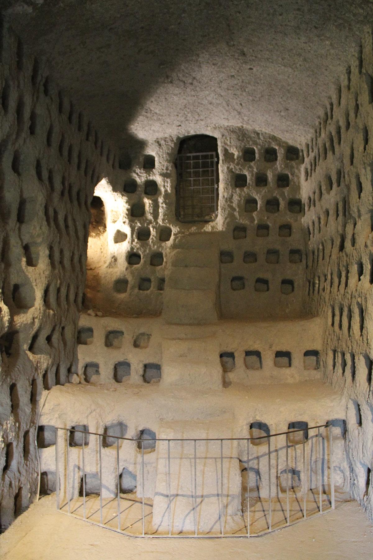 Pigeon holes underground Orvieto