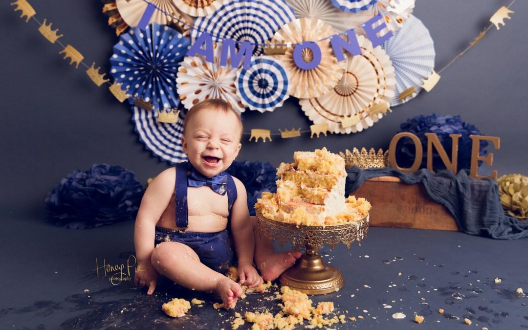 Shoreham Cake Smash Photographer Ryan 1st Birthday Honey Pie
