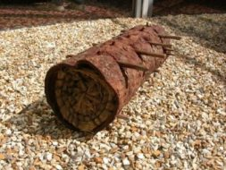 Bark and grass hive