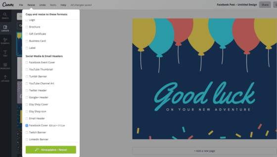 Canva review of magic resize options