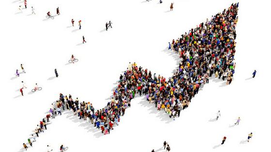 influencer marketing strategy visualized with upward arrow of people