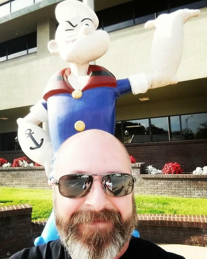 Jared and Popeye statue