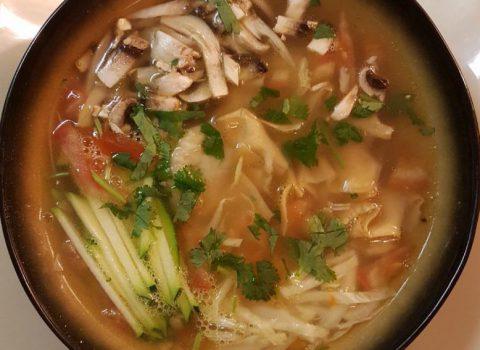 Wonton soep (min 5 porties)