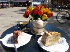 Coffee and cake in mid afternoon