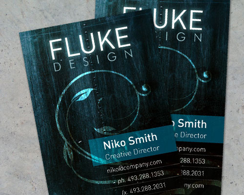 luxa grunge business card