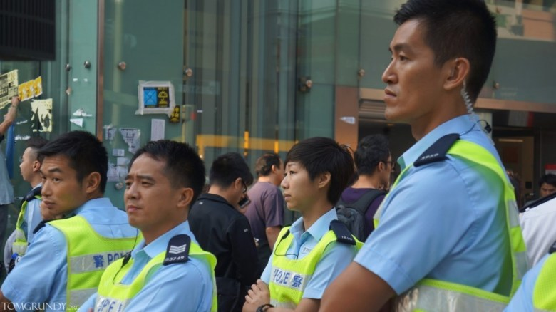 Mong Kok occupy police officers