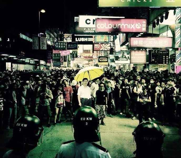 Xi jinping umbrella mongkok