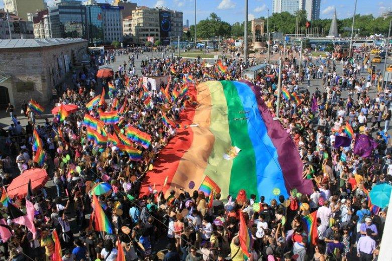 Gay pride parade in Turkey