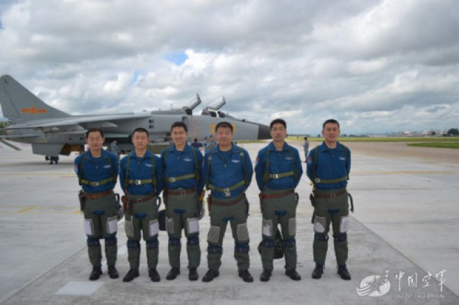 China sends domestically made aircraft to joint drill with Russia. Photo: 81.cn
