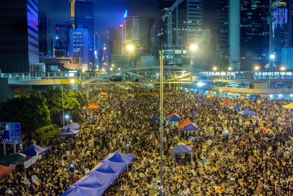 occupy central umbrella