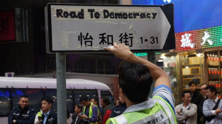 occupy central road to democracy