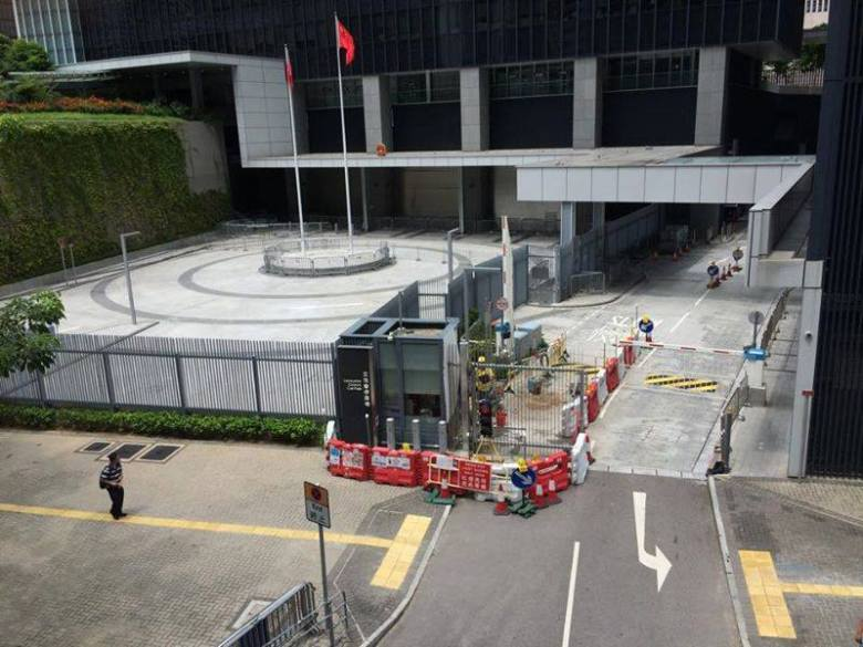 Photo of new barrier by Civic Square