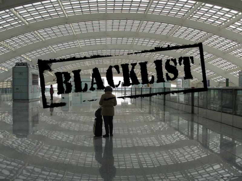 Beijing airport blacklist