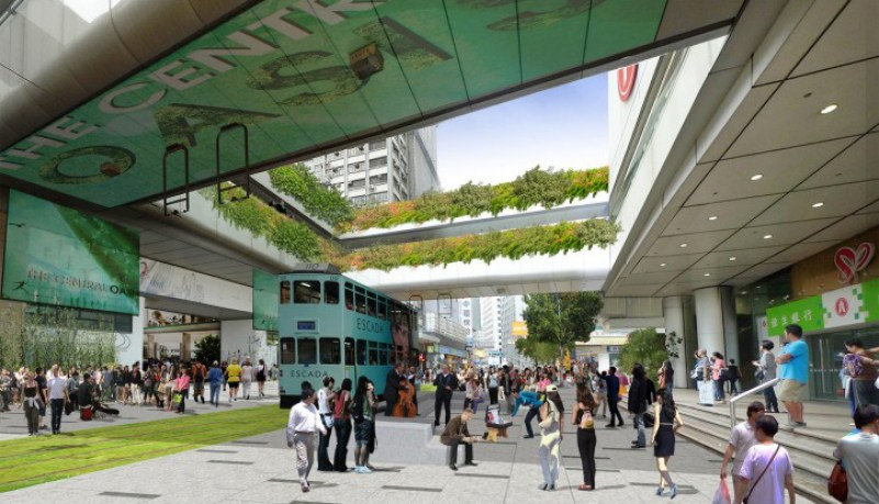 The proposed green area in Central. Photo: Clean Air Network.