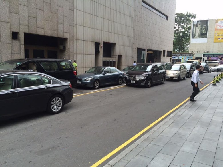 Illegal parking in Central