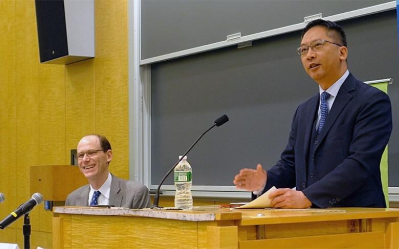 Rimsky Yuen during the talk.