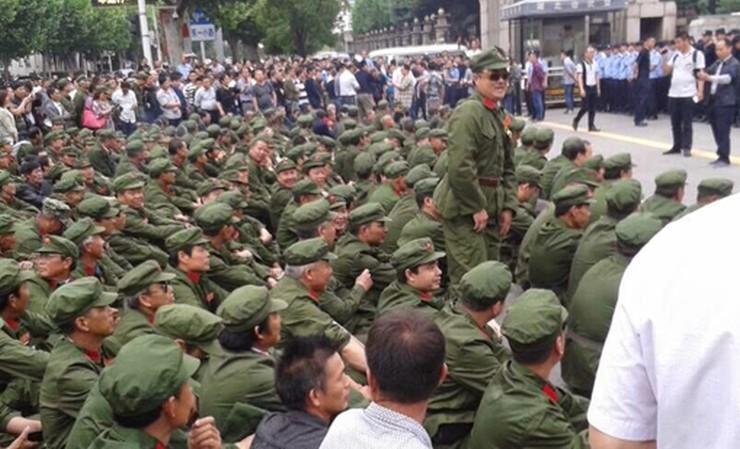 pla veteran protest