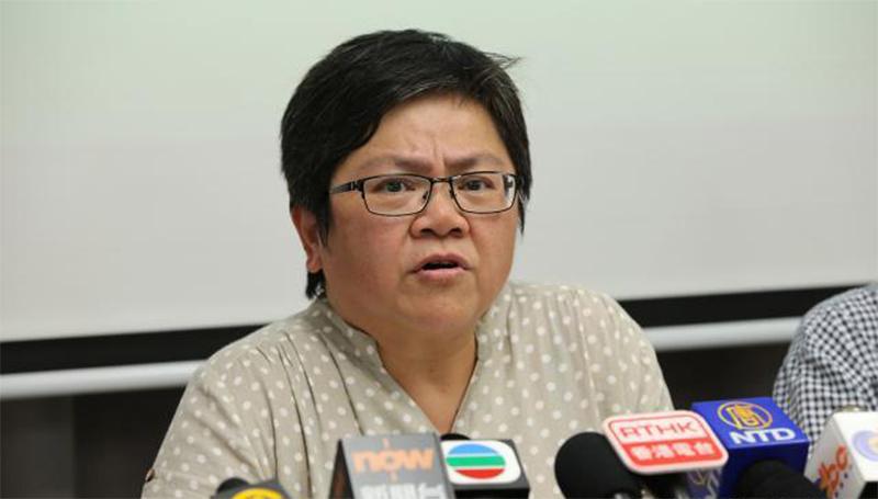 Hong Kong Journalist Association chair Sham Yee-lan.
