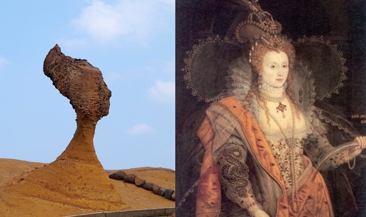queen elizabeth head