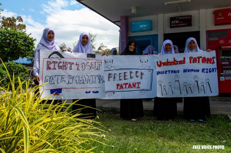 Students in Patani assert the people's right to self-determination.