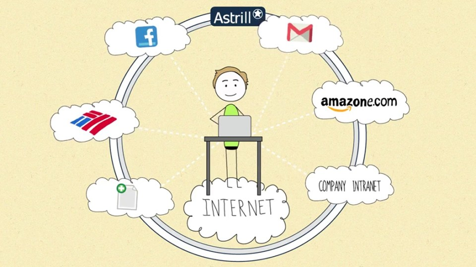 Screenshot of a promotion video of a VPN.