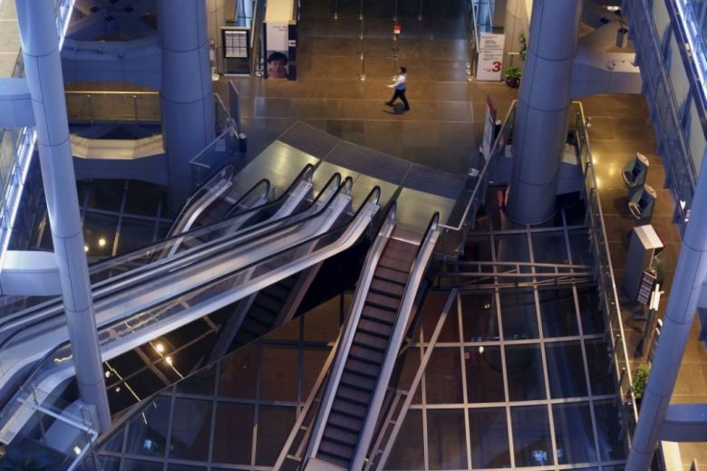 Escalator at HSBC
