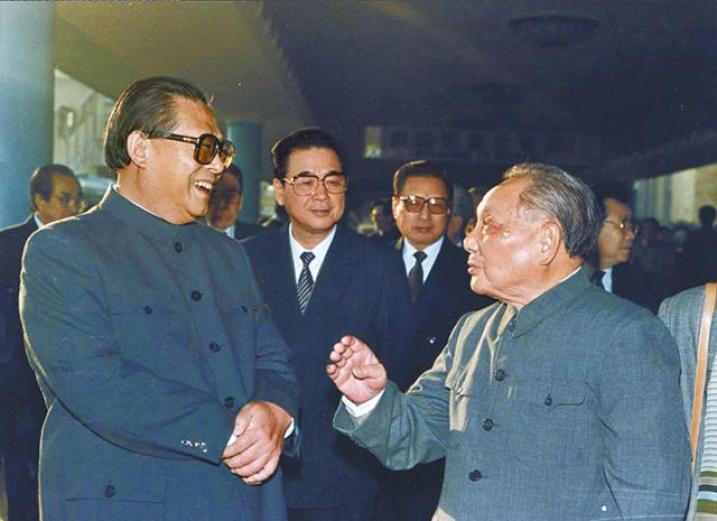 Jiang Zemin, Li Peng, Qiao Shi and Deng Xiaoping