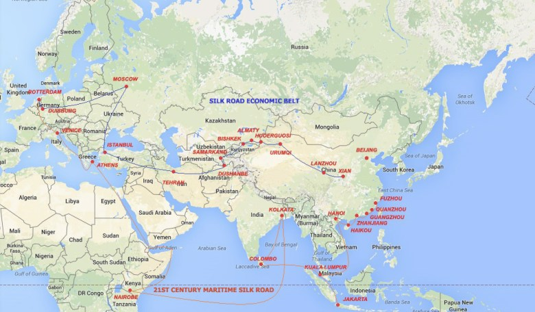 one belt one road routes