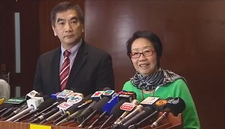 Felix Chung (left) and Chan Yuen-han (right).