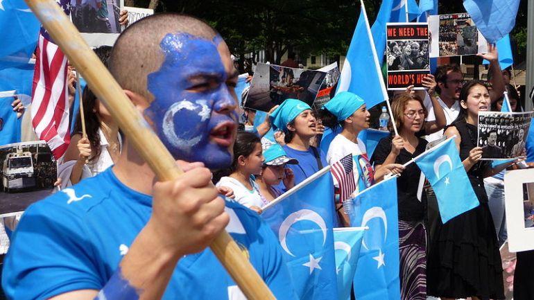 Uyghur protest abroad in Washington DC