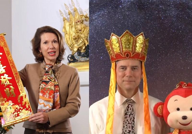 UK and US Consul Generals.