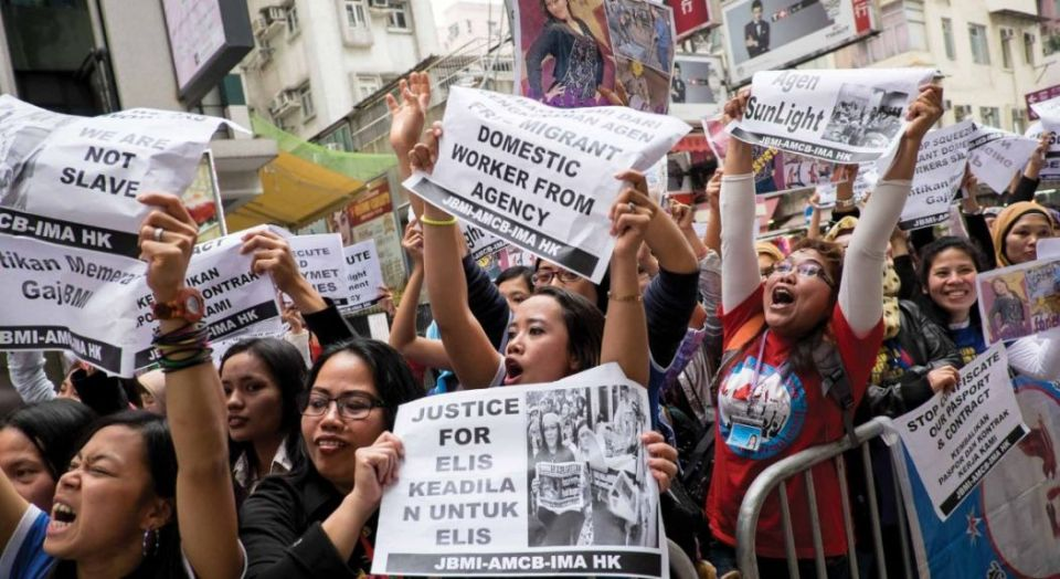 Domestic workers in protest